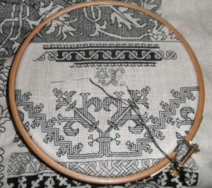 Blackwork sampler.