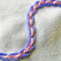 The backstitched chain stitch.