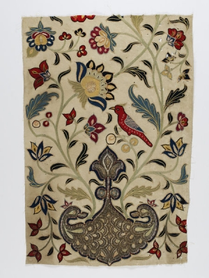 Qajar-period tent panel, Iran, decorated in the so-called Rasht style.