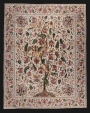Palampore hanging with a design of a flowering tree, India, late 17th or ealy 18th century.