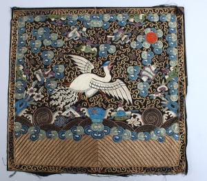 Late 19h century embroidered rank panel from China.