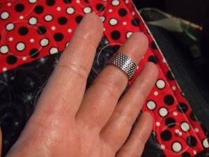 An example of a thimble ring.