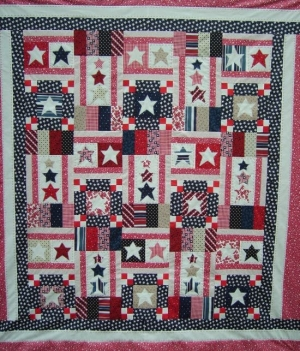 Pattern for a Home of the Brave quilt.