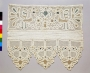 Towel end from Russia, with bobbin lace decoration, 19th or early 20th century.