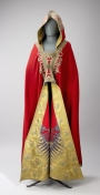 A man's cloak said to have been worn by Napoleon Bonaparte. c. 1800.