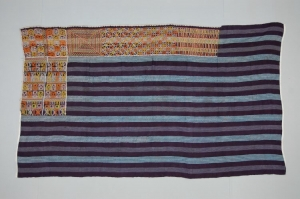 Embroidered head covering or hip wrap for Wodaabe woman.  Late 20th century.