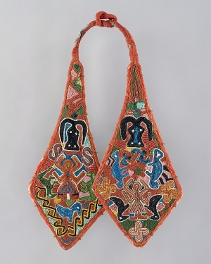 Beadwork panel ornaments for ceremonial sword and sheath. Nigeria, 19th -20th centuries.