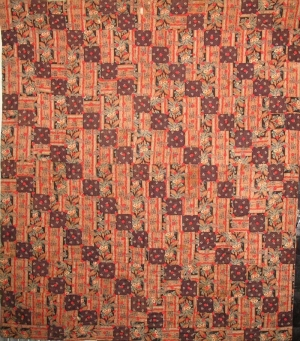 Example of a straight furrow quilt.