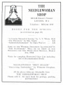 Advertisement for the Needle Woman Shop.