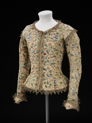 The Margaret Layton jacket, early 17th century, Britain.