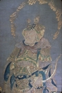 Hanging scroll of a Buddhist Guardian King. China, Ming-dynasty.