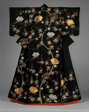Outer robe (Uchikake), Japan, late 18th / early 19th centuries (back view).