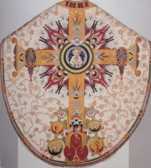 Embroidered cope in the Treasury of the Dom of Münster, Germany. Presented in 1923.