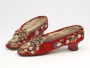 Pair of shoes embroidered with moose hair. North America, mid-19th century.