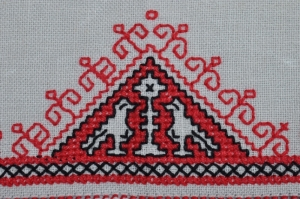 Modern piece of Assisi embroidery.