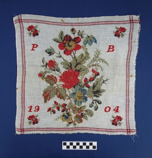 School sampler from The Netherlands, dated 1904.