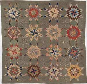 African-American quilt, with Bethlehem motif, made by Ellen Morton Littlejohn (1826–1899).
