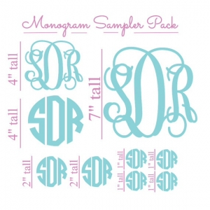 Commercial monogram sampler kit.