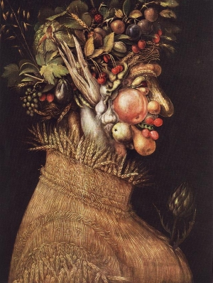 """Summer', an allegorical painting by Giuseppe Arcimbolo, dated 1563."