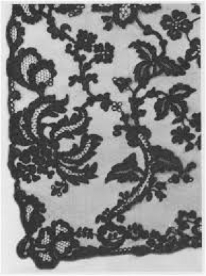 Piece of Kells lace, Ireland, early 19th century.