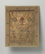 English sampler dated AD 1766 with references to two English hymns.
