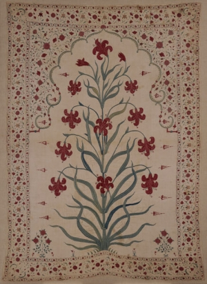 Mughal wall hanging, India, late 17th century.