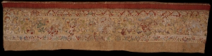Embroidered temple panel from Nepal, dating to the 15th and 16th centuries