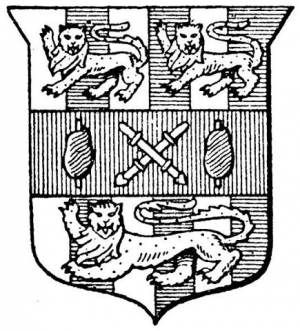 Arms of the Broderers' Company.