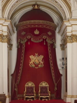 The throne canopy of King George V.