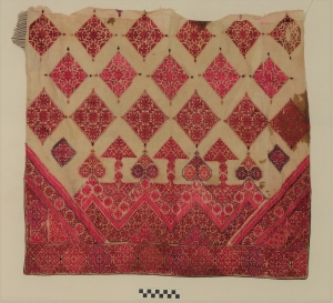 Embroidered panel from Hazara Division, Pakistan, mid-20th century.