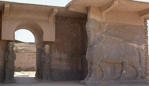 Part of the ruined town of Nimrud, before the ISIS destructions.