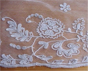 Example of tambour lace.