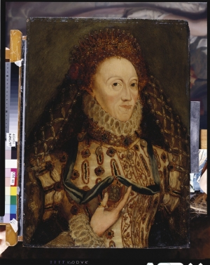 Portrait of Queen Elizabeth I of England (r. 1558-1603), by an unknown artist.