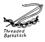 Schematic drawing of a threaded back stitch.