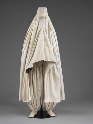 Chadar, or burqa, from Afghanistan, 19th century.