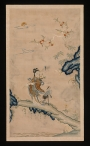 'Fairy and crane' embroidery, Qing Dynasty China. On display at the exhibition 'Painting with Threads: Chinese Tapestry and Embroidery, 12th–19th Century', MET New York, 2014-2015.