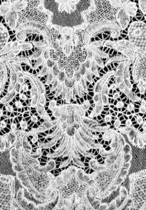 Example of Brussels lace.