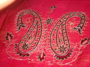 Example of ari embroidery.