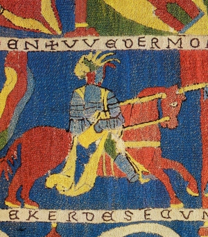 Example of embroidery with the Kloster stitch.