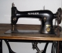 A Singer sewing machine.