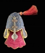 Quilted helmet taken from Seringapatam (Srirangapatnam), the fortress of Tipu Sultan, in AD 1799.