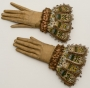 Leather and silk embroidered gloves, The Glove Collection Trust, Courtesy of the Fashion Museum, Bath and North East Somerset Council. UK, 16th century.