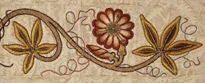 Fine example of Leek embroidery.