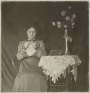 Photograph of woman doing crochet. The Netherlands (?), c. 1900-1910.