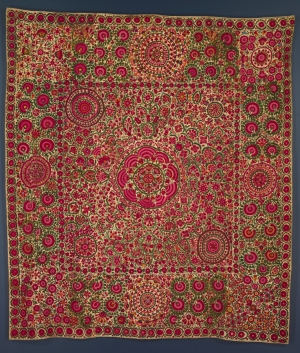 Early 19th century suzani from Central Asia.