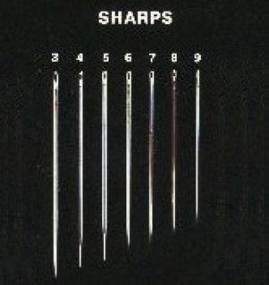 Commercially available set of sharp needles.