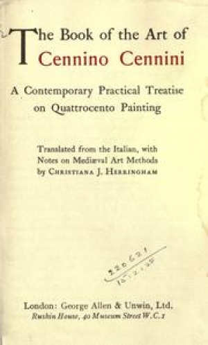 Cover of an 1922 English translation of Cennini's The Book of Art