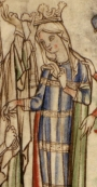 Edith of Wessex, as depicted in a 13th century ms.