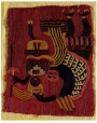 Embroidered panel from pre-Columbian Peru.
