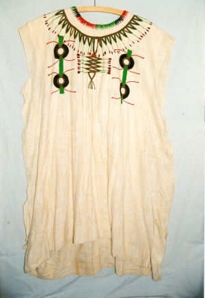 Embroidered man's gown from Kano, Nigeria, late 20th century.